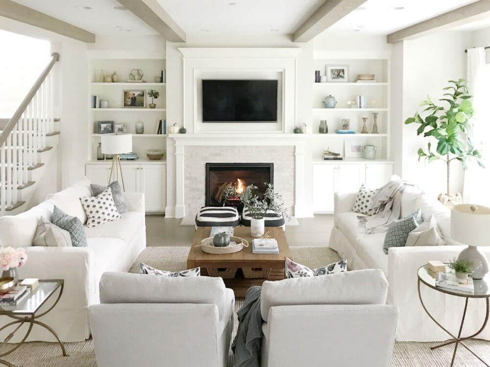 Open concept living room life on cedar lane - Open concept living room furniture placement ...