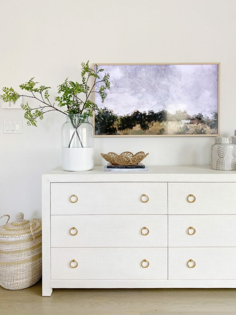 Serena & Lily Driftway dresser in chalk, loving this beautiful and functional addition to my coastal inspired bedroom design.