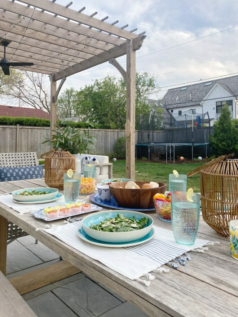 Outdoor entertaining is finally here, so excited to share these fun and affordable finds from Walmart to create a festive backyard oasis.