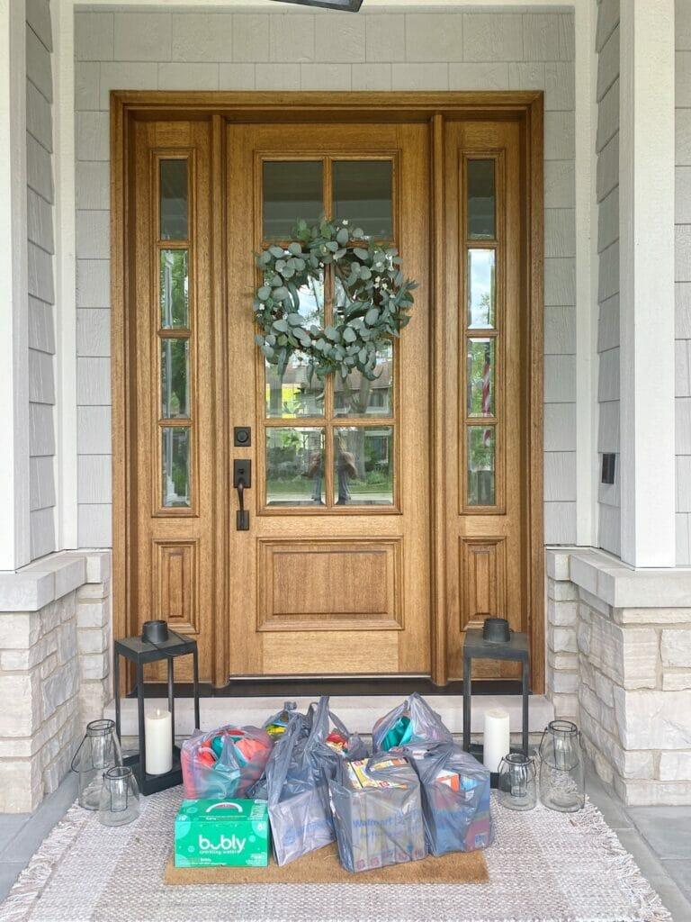Pella front door features custom stain, Walmart+ delivery