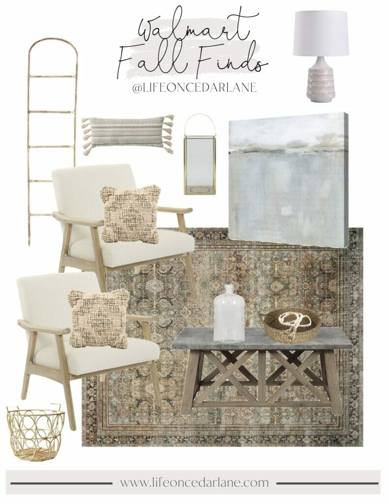 walmart fall decor for your living room