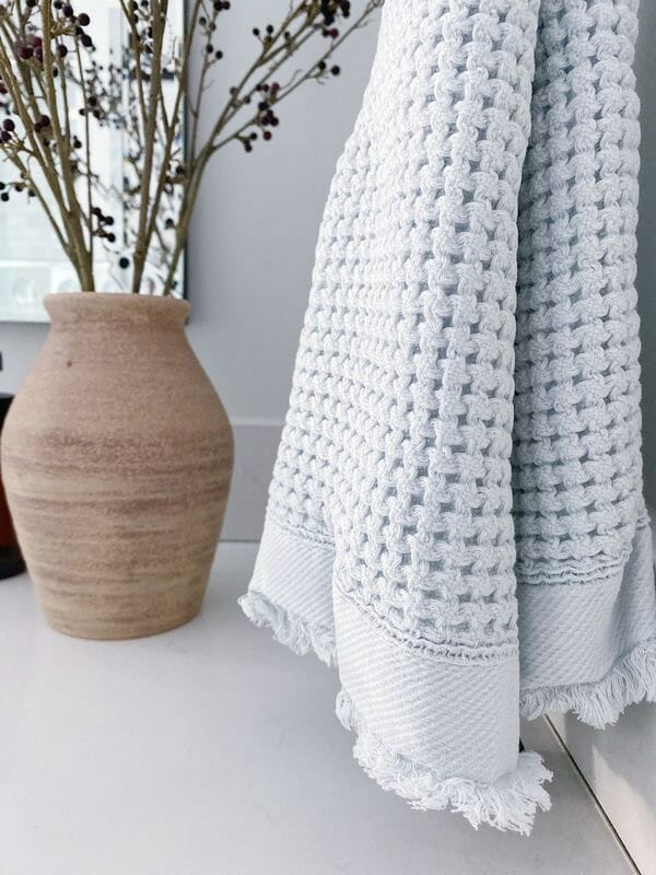 waffle knit hand towels from Walmart