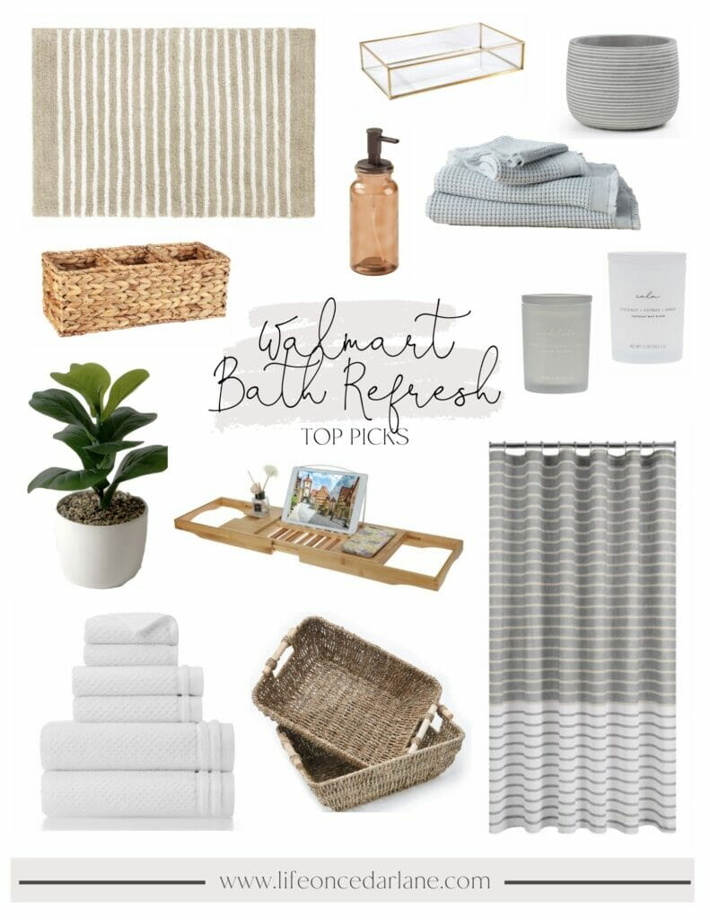 Walmart bath refresh | A Luxury Spa Retreat with Affordable Finds from Walmart